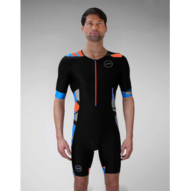 Zone3 Activate+ Combinaison de triathlon manches courtes Homme, midnight camo